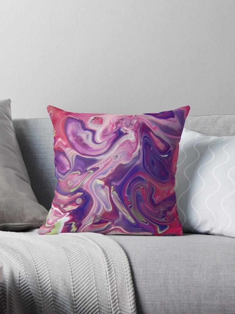 Fluid Nature - Purple Lava - Acrylic Pour Art by vmajzlik
