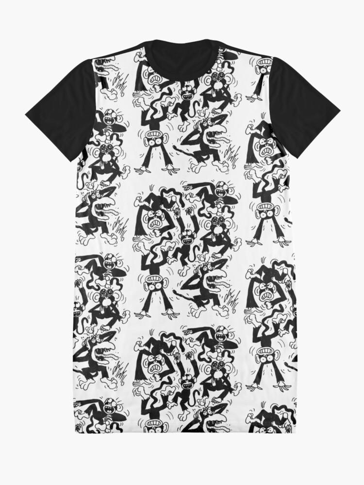 Alternate view of Crazy Monkeys Graphic T-Shirt Dress