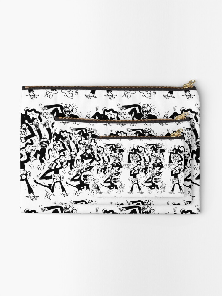 Alternate view of Crazy Monkeys Zipper Pouch