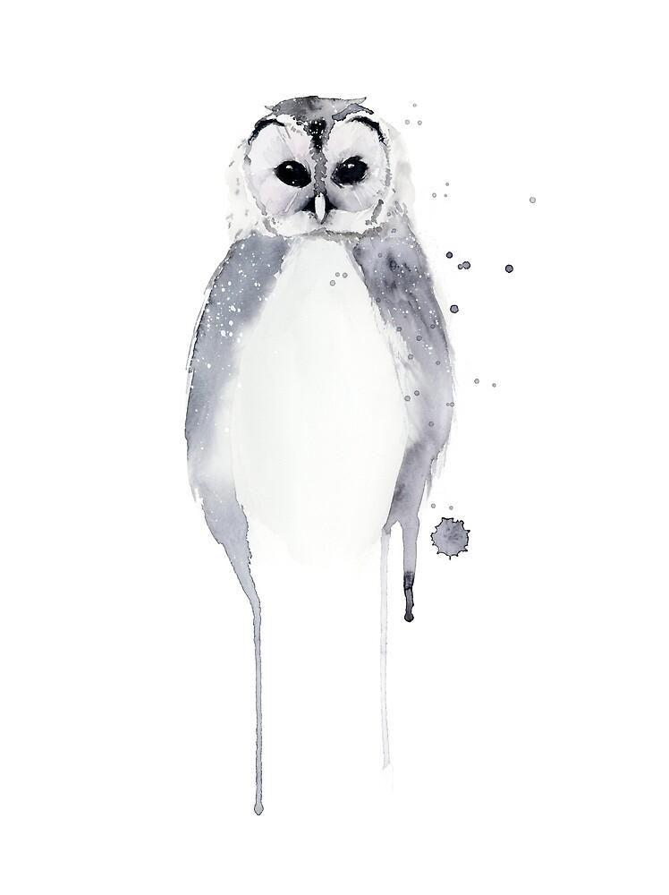 Owl - Winter White by coraeklund