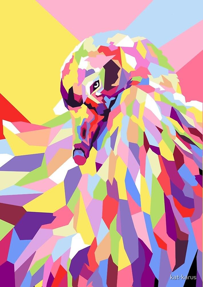 Sebastopol Goose Pop Art by kat-karus