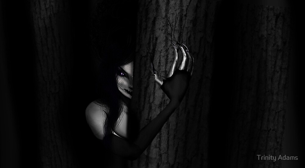 Watcher in the woods by Trinity Adams