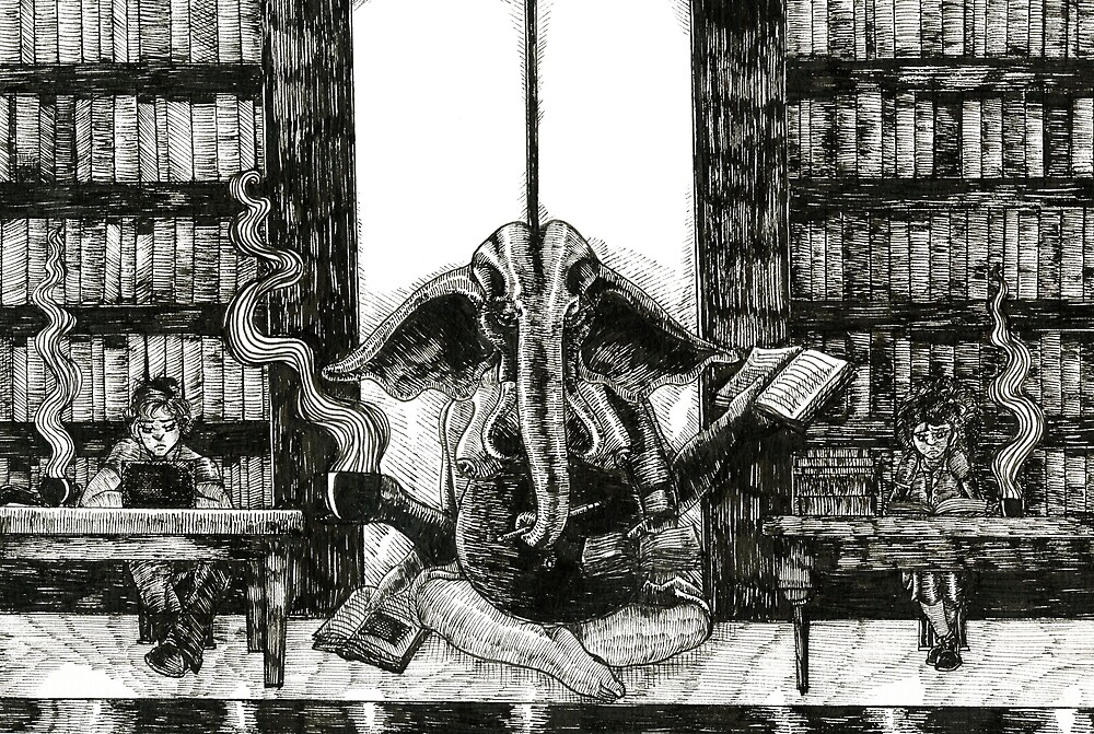 God of the Library by Brooksie Fontaine