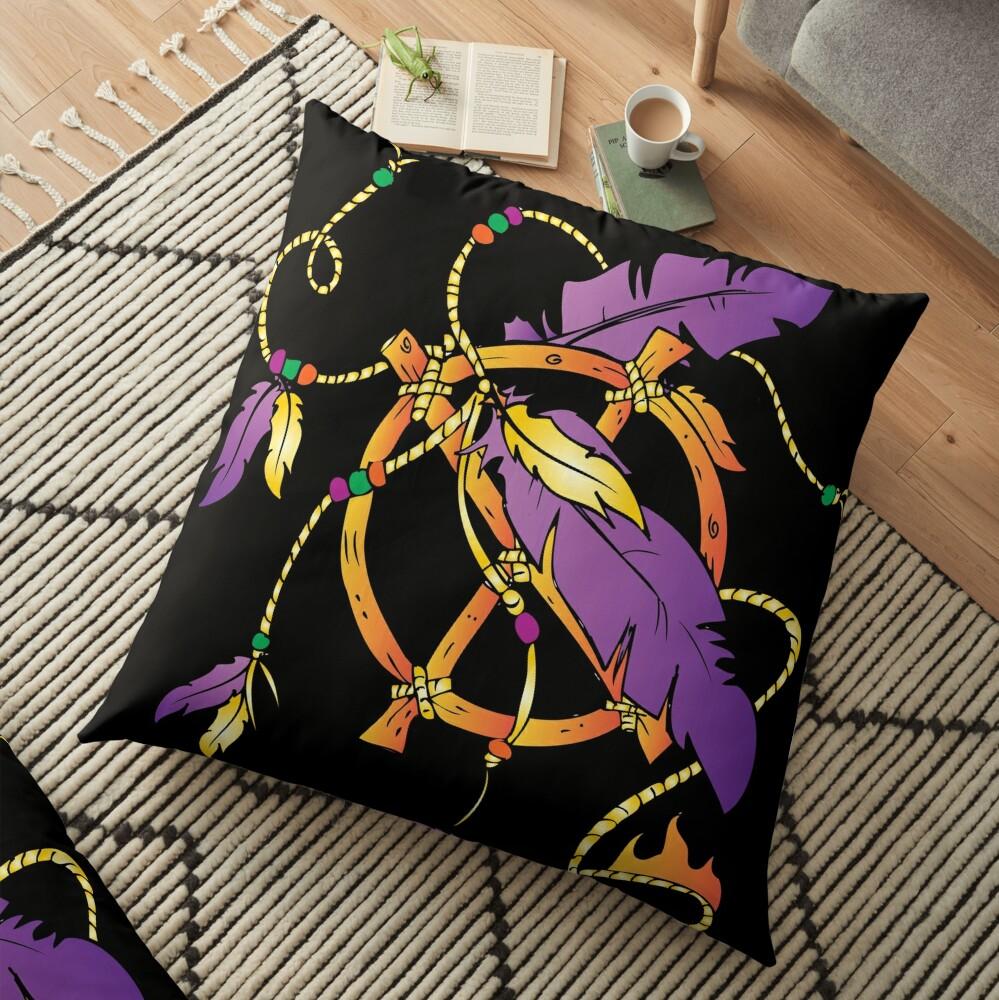 Feather Dream Wheel Floor Pillow