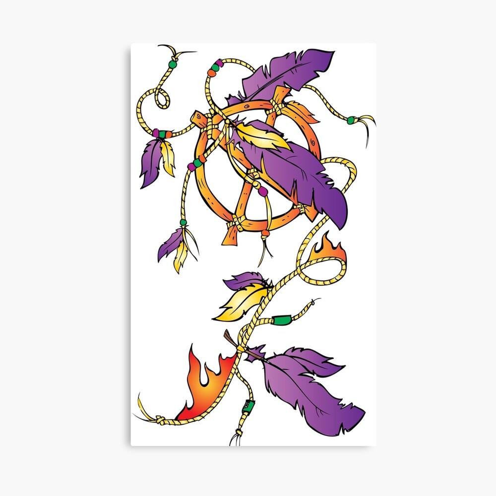 Feather Dream Wheel Canvas Print