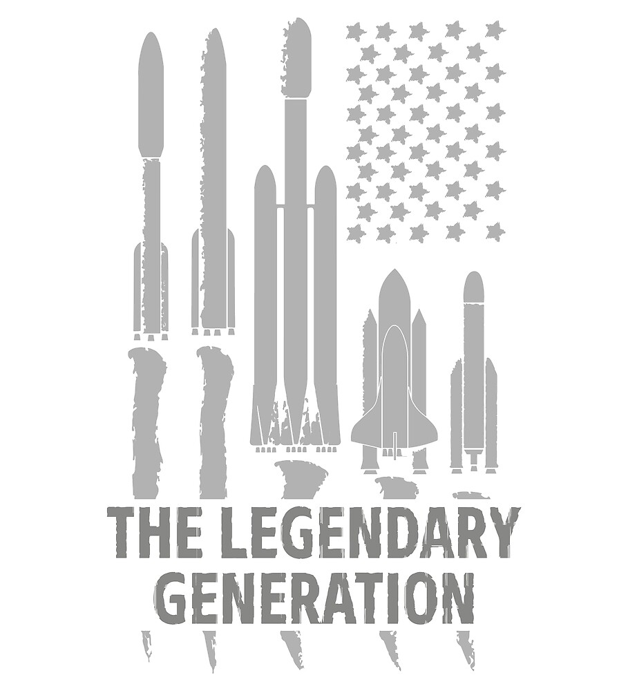 Legendary space rockets - USA Flag  by tasbond
