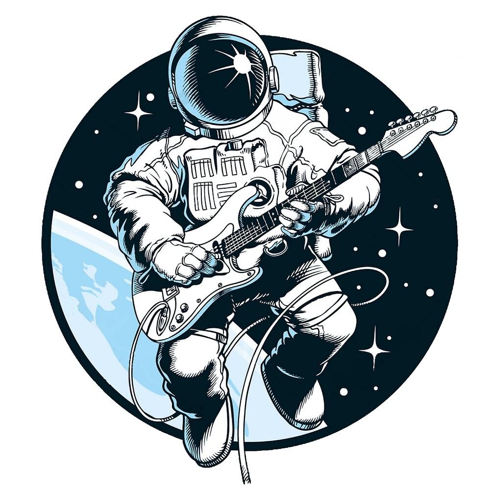 Astronaut Guitar by Isahy