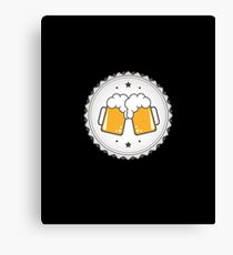 cheers beer design beer shirt tshirt sticker hoodie mug bag Canvas Print