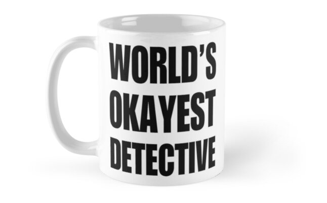 Funny World's Okayest Detective Gifts For Detectives Coffee Mugs by christianadams