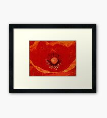Roaring Red Framed Print