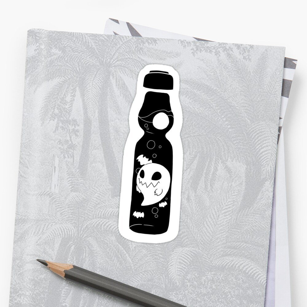 Haunted Ramune (B+W sticker version) by spaceboytrash