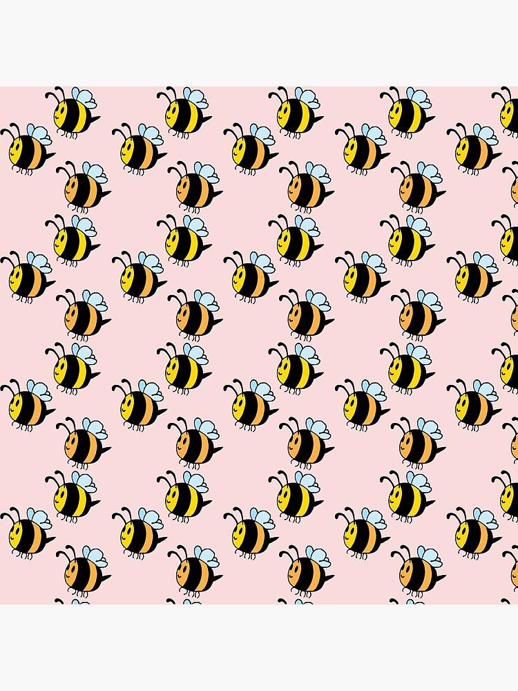 Chubby Bees by GroglioArt