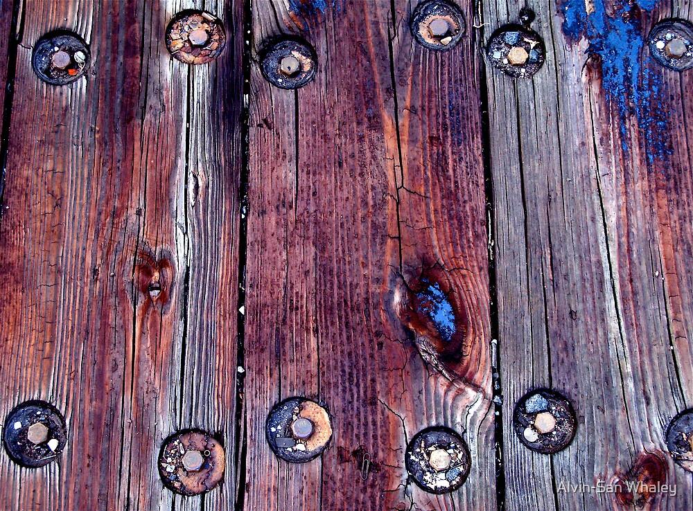 Bolts, Wood, Tar & Rust by Alvin-San Whaley