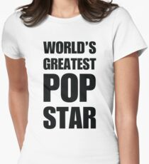 Funny World's Greatest Pop Star Gifts For Pop Stars Coffee Mugs Women's Fitted T-Shirt