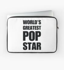Funny World's Greatest Pop Star Gifts For Pop Stars Coffee Mugs Laptop Sleeve