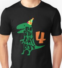c52c1101261 Dinosaur Birthday Boy 4 T Shirt - 4 Year Old Birthday Tee Unisex T-Shirt