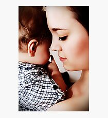 Mother and Son Photographic Print