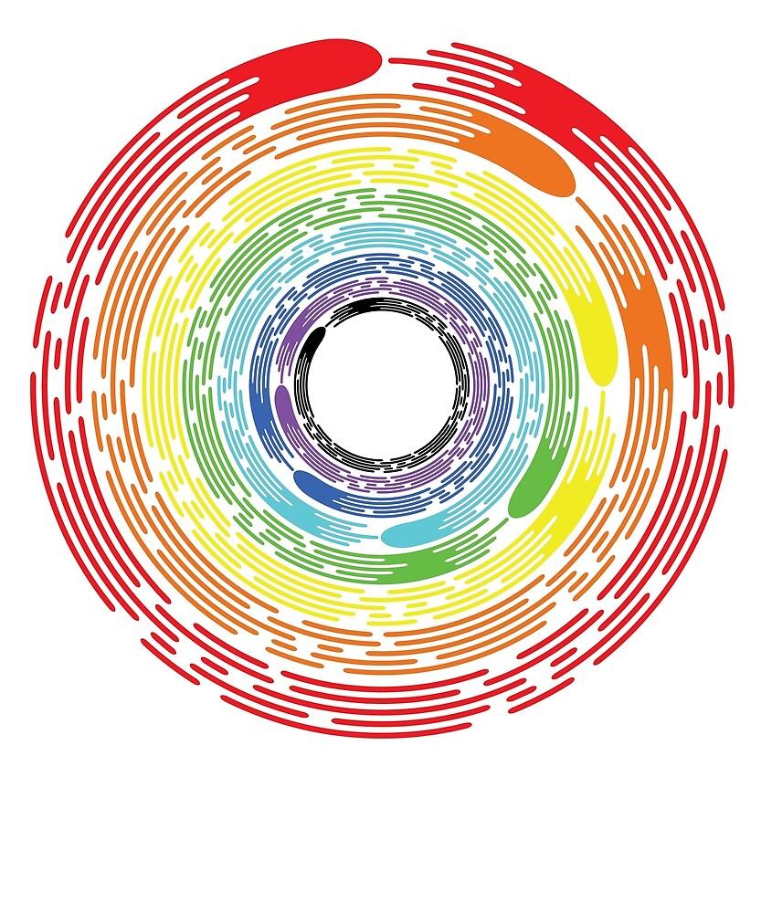 Rainbow Enso Circle Swirl by OCJoe