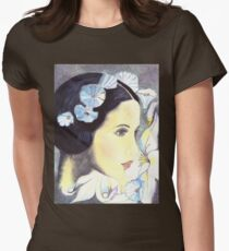 "BEAUTIFUL ""ART NOUVEAU"" WOMAN WITH LILIES  Womens Fitted T-Shirt"