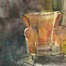 The Orange Armchair by Catrin Stahl-Szarka