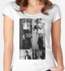 Jaeden Lieberher collage Women's Fitted Scoop T-Shirt