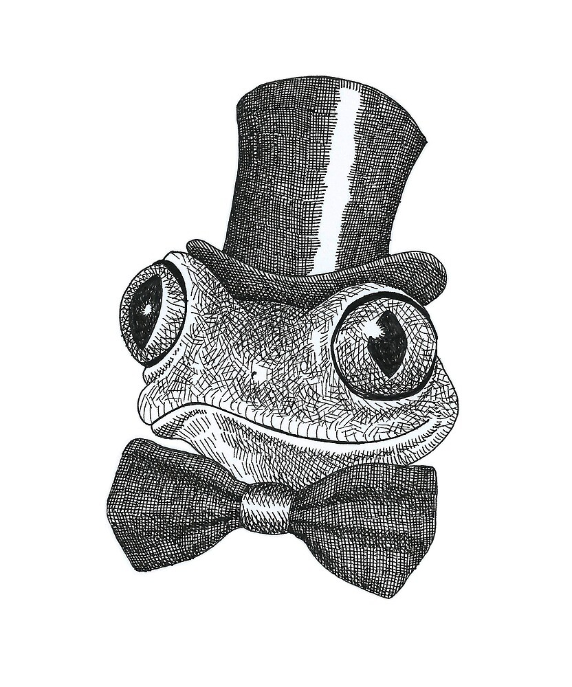 Mister Frog is a real Gentleman Sticker by chris-baudouin