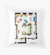 Carrie Bradshaw's Apartment Floorplan v.2 Throw Pillow