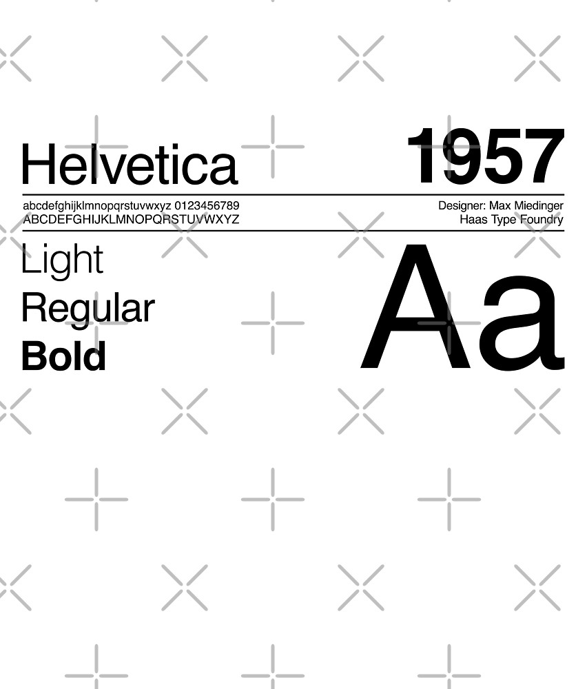 Helvetica Sans Font Typography Design by paperpark