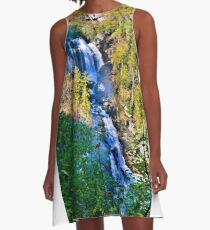Whitewater Falls North Carolina Vertical A-Line Dress