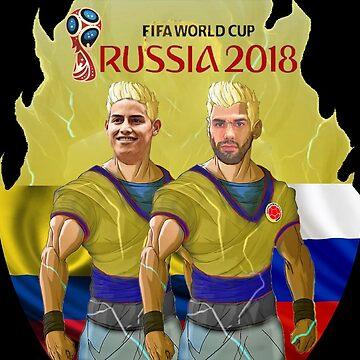 James y Falcao Rusia 2018 by danbrobro