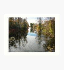 Canal Road River....(Water reflection)... Art Print