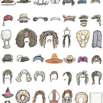 HATS OF THE MIGHTY BOOSH by flatlaydesign