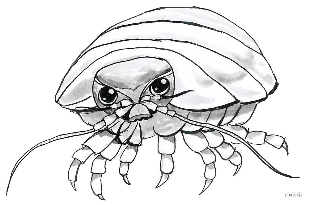 isopod hours ink painting by neitth