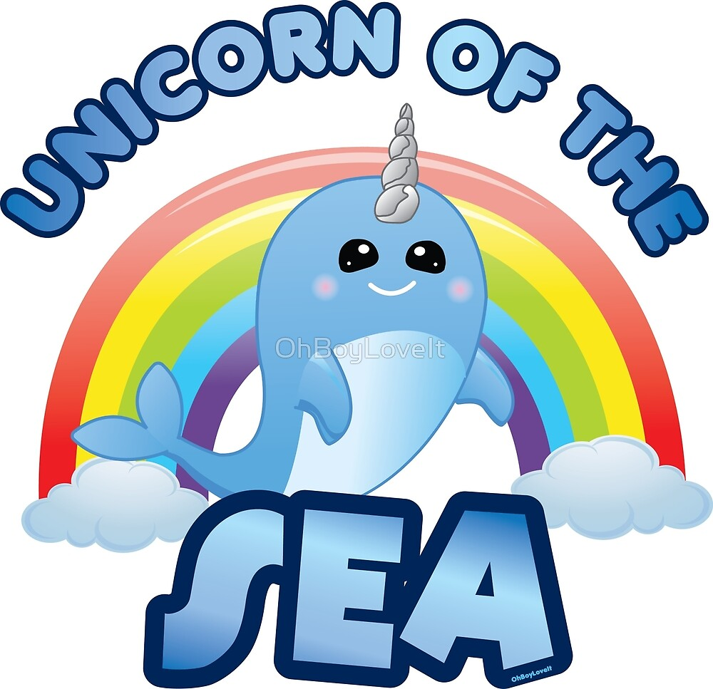 Kawaii Narwhal Unicorn of the Sea by OhBoyLoveIt