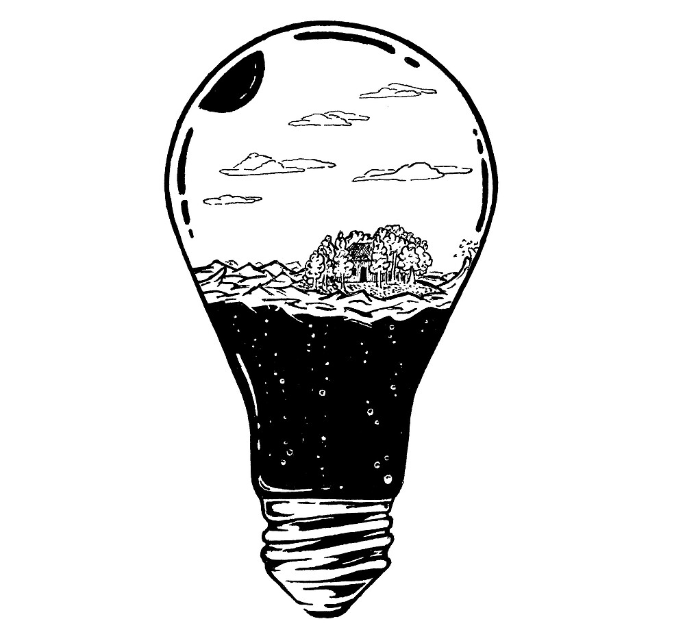 The bulb with island by termitart