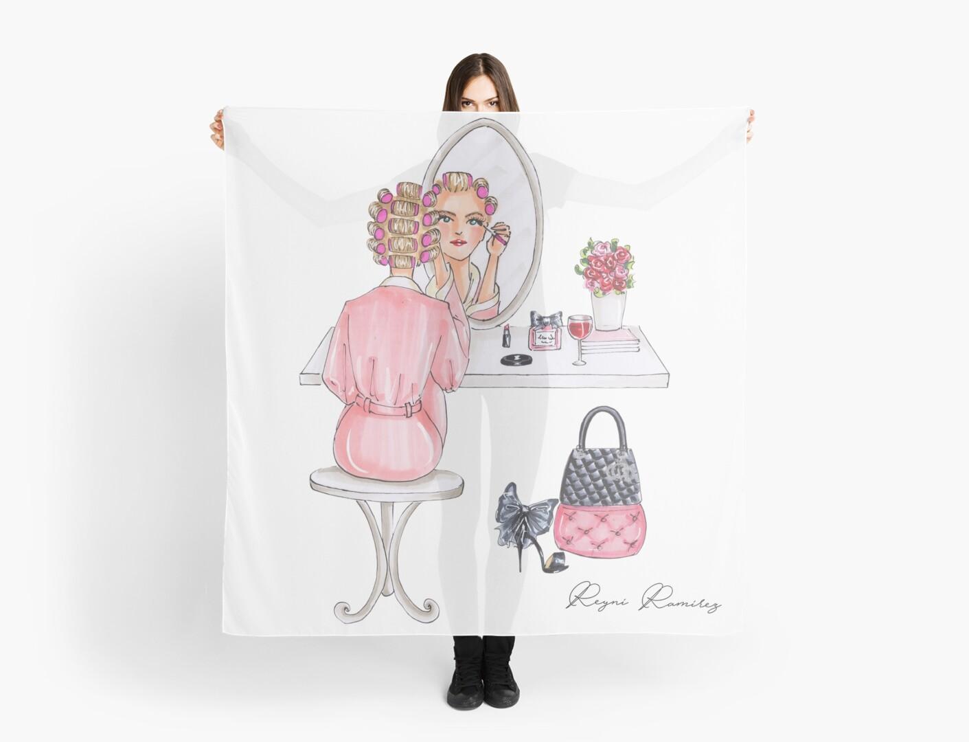 makeup table  blonde by reyniramirezfi