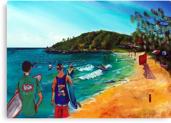 2018 Agnes Water Longboard Classic - Day 2 - artist Bob Gammage by tola