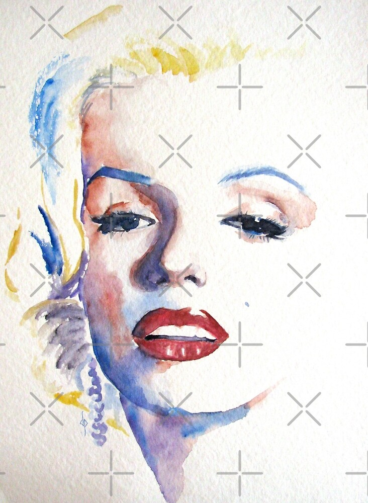Marilyn Monroe Watercolor by collageDP