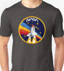 Vintage Clipart NASA Rocket Unisex T-Shirt