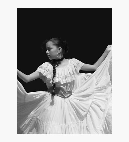 Folkloric Dancer in BW Photographic Print
