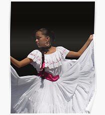 Folkloric Dancer, Ciudad Colon, Costa Rica Poster