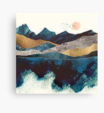 Blue Mountain Reflection Canvas Print