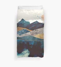 Blue Mountain Reflection Duvet Cover