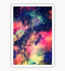 beautiful bold galaxy contrast Sticker