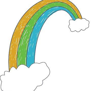 Rainbow Children's Drawing Hand drawn Rainbow by JustLogIt