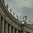 Colonnades And Statues...........................Rome           by Fara