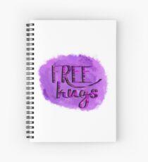 Free hugs (pink/purple) Spiral Notebook
