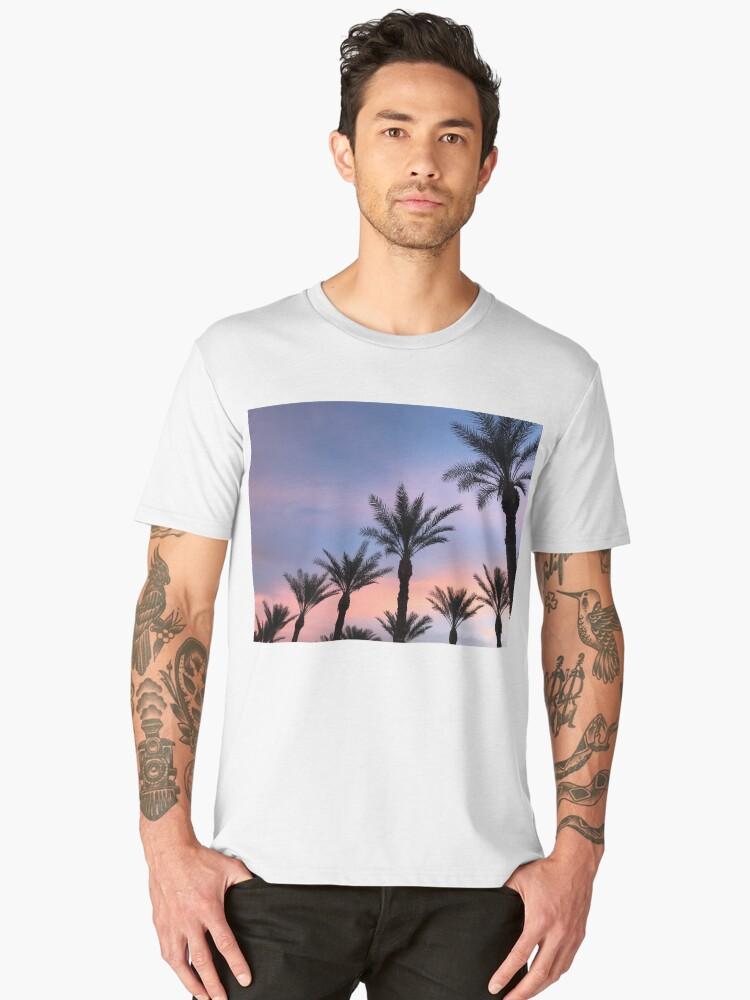 Sunset Palm Trees Men's Premium T-Shirt Front