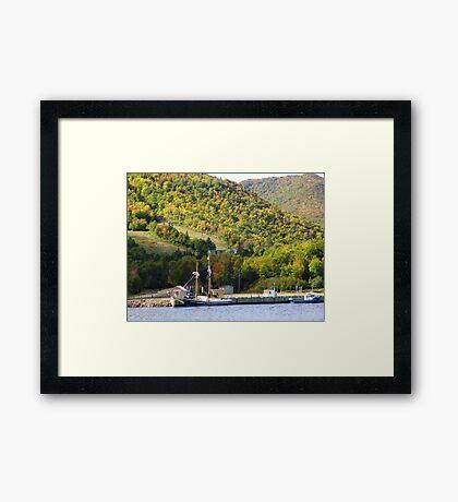 Quiet Anchorage Framed Print