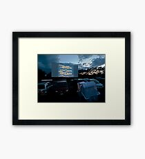 Drive-In Movie Theater (Wellfleet, Cape Cod) Framed Print